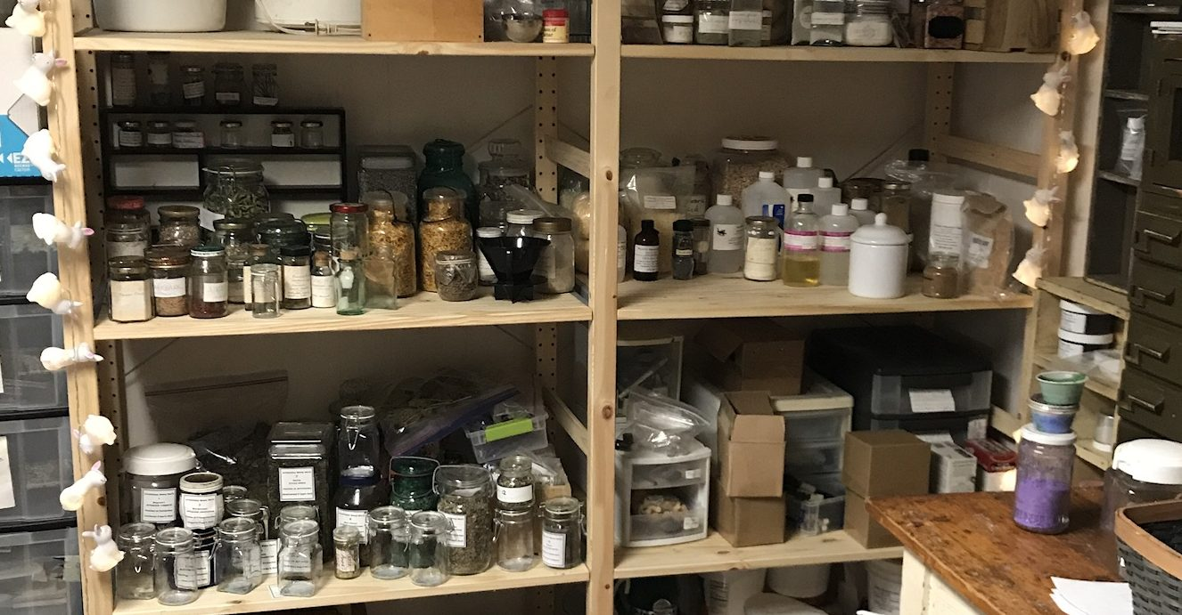 Herb and Ingredient Shelves